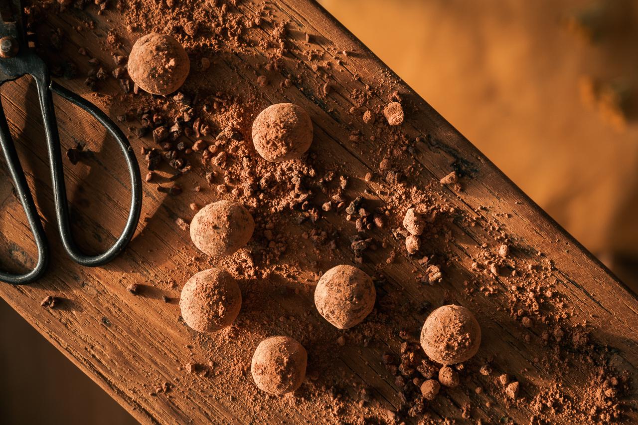 RAW orange truffles