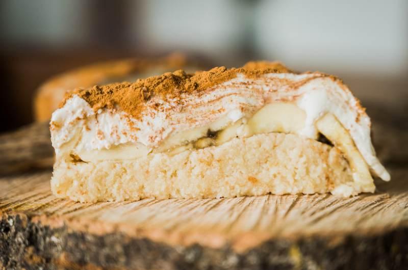 Tirawmisu –banana, almonds, and cashew RAW dessert